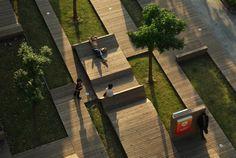 Mobiliario urbano, para descansar