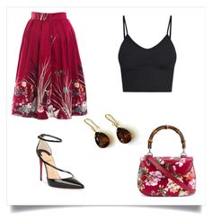 """""""Untitled #27"""" by magdapdr ❤ liked on Polyvore featuring Gucci and Christian Louboutin"""