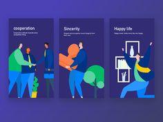 Happy, cooperative, credit vector illustration by erics - Dribbble