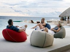 The Marine Bean Chair from Coast New Zealand is the original outdoor beanbag, made in New Zealand from Sunbrella brand fabric and guaranteed against fading and deterioration. Bean Chair, Bean Bag Sofa, Outdoor Bean Bag, Spa, Outdoor Rooms, Surfboard, Office Decor, New Zealand, Terrace
