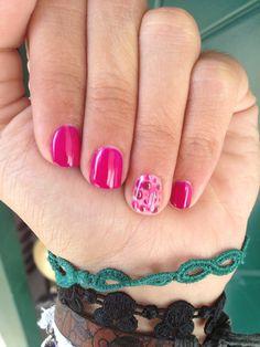 Semi permanent pink bubbles