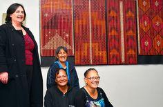 RARANGA: Te Whare Wananga o Aotearoa tutor Gerry Karekare, right, with students, from left, Angela Clark, Pare Rivers and Tania Kopura. Photos Louis Klaassen D4506-03
