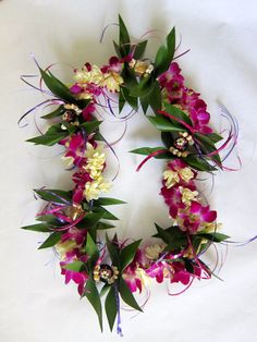 Fresh Flower Lei with Orchids & Tuberose Fragrant