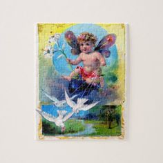 Falln Spring Time Fairy Jigsaw Puzzle - spring gifts beautiful diy spring time new year