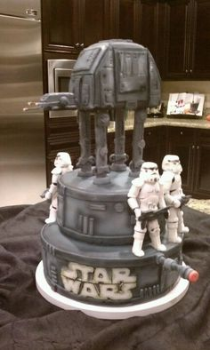 My Star Wars cake Broncosfans@verizon.net  For me and all the othere starwars lovers♥