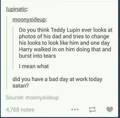 Teddy Lupin morphing into Remus x'( Harry Potter Feels, Harry Potter Marauders, Harry Potter Jokes, Harry Potter Universal, Harry Potter Fandom, Harry Potter World, The Marauders, Harry Potter Funny Tumblr, Hogwarts