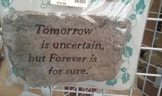 Tomorrow - forever