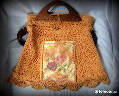 6fab08632857 Egyedi készítésű vintage horgolt női táska eladó Válltáska, Fogantyú