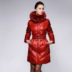 The new 2014 fashion lady down big yards long coat of cultivate one's morality