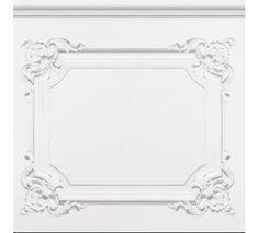 Papier Peint Boiseries Louis XV Blanc grisé. Wallpaper. French trompe l'oeil by Koziel.