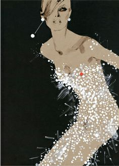 Illustration used on the cover of '100 Years of Fashion Illustration' by David Downton #illustration #fashion