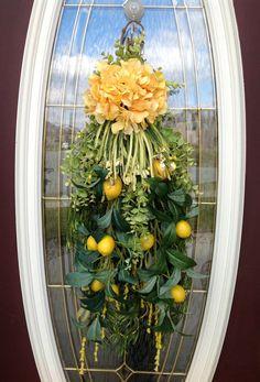 Spring and Summer Door Decorations | Spring Wreath Summer Wreath Mother's Day Teardrop Vertical Door Swag ...