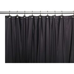 Ebern Designs Morissette Vinyl 3 Gauge Single Shower Curtain Liner with Weighted Magnets and Metal Grommets Color: Black Hotel Shower Curtain, Extra Long Shower Curtain, Vinyl Shower Curtains, Shower Liner, Mold And Mildew, Collection, House Styles, Home Decor