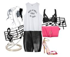 """Rock the night"" by closertocris ❤ liked on Polyvore featuring GE, Aspinal of London, Acne Studios, Chantal Thomass, Steve Madden, Volcom, Balmain and Marc by Marc Jacobs"