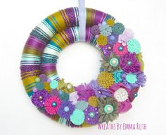 Hey, I found this really awesome Etsy listing at https://www.etsy.com/listing/259044428/free-shipping-double-wrapped-yarn-wreath