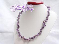 long purple twist necklace