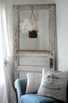 Dishfunctional Designs: New Looks For Old Salvaged Doors: More Repurposed Door Ideas! #Salvageddoors
