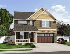 Handsome Exterior - 69483AM | 2nd Floor Master Suite, CAD Available, Den-Office-Library-Study, Narrow Lot, Northwest, PDF, Traditional | Architectural Designs