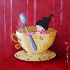 La cuillère à sucre 30x30 | les toiles d'Az