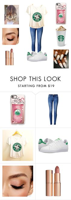 """Starbucks"" by slaybeauty101 ❤ liked on Polyvore featuring Casetify, WithChic, adidas, Avon and Charlotte Tilbury"