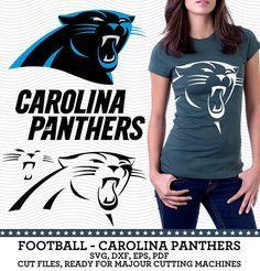 Carolina Panther Footbool Logo SVG dxf eps PDF by SVGsilhouetteDXF