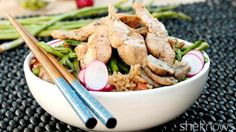 No shortage of veggies and chicken in this one-skillet fried rice
