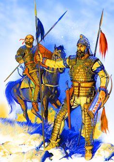Scythian armoured warriors