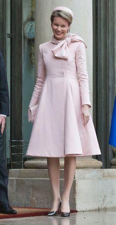 February 6, 2014... Princess Mathilde of Belgium in Paris