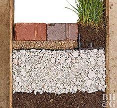 101445972 Brick Pathway, Paver Walkway, Brick Pavers, Stone Walkway, Brick Driveway, Diy Garden, Garden Paths, Herringbone Brick Pattern, Brick Sidewalk