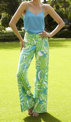 Lilly Pulitzer Dusk Racer Back Tank Top & Bianca Palazzo Pant