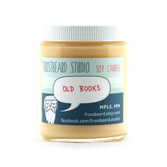 Old Books Scented Candles from storenvy $15
