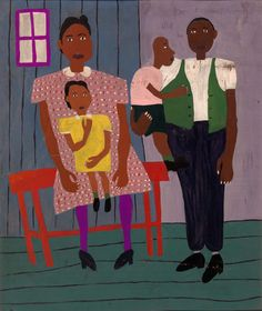 Family Portrait by William H. Johnson African American Artist, American Artists, American Women, American History, African Art, Native American, William H Johnson, Henry Johnson, Family Painting