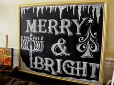 Merry and bright. Nice way to tie the menorah into a traditional Christmas jingle. #chrismukkah