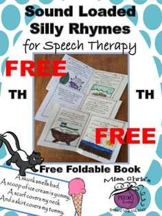 Try out the FREEBIE! NO PREP - PRINT-N-GOI love creating fun silly activities for speech therapy. You fold the paper into a 4-page book. Each page has a silly poem loaded with /th/ words (all word positions). Gives students the opportunity to practice their sound at the sentence/phrase level while reading.