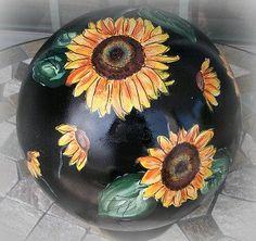 Garden Art Repurposed Bowling Bowl Acrylic by thREegreenart, $58.00