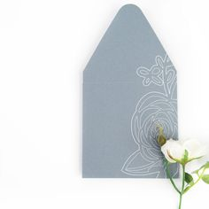DIY Stationery - Create Your Own Floral Envelopes with the Silhouette Pen Holder or Sketch Pens. Click through for the tutorial