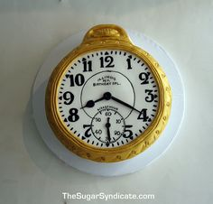 Pocketwatch Birthday Cake by The Sugar Syndicate, via Flickr
