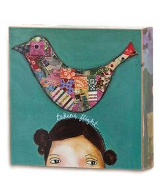 Take a look at this 'Taking Flight' Box Wall Art by DEMDACO on #zulily today! Great one for your daughters room.