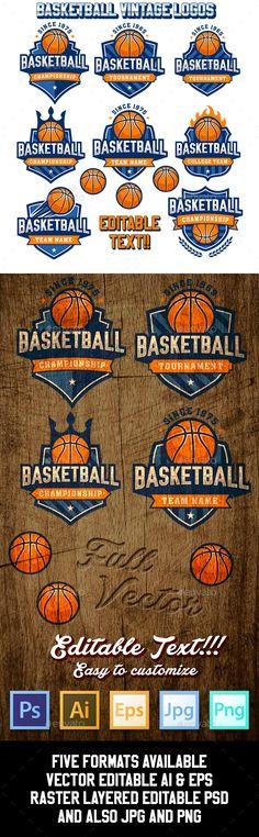 Basketball Logo Templates - Sports/Activity Conceptual