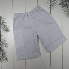 Pantalon bleu lavande bébé coton coupe droite par ZABOfaitsonnid