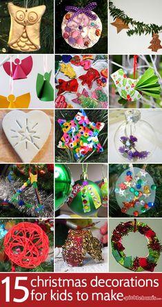 15 Christmas Decorations for Kids to Make - picklebums.com