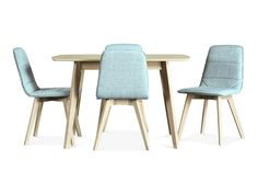 Norway 5 piece dining blue suite