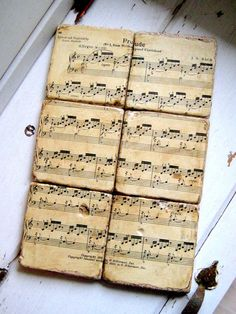 Classical Music Coasters from re purposed tiles by jensdreamdecor,   49.50 #bach #classical music