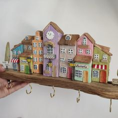 Our new driftwood key hanger for a wall on sale Driftwood Furniture, Driftwood Wall Art, Wood Crafts, Diy And Crafts, Name Plate Design, Pottery Houses, Small Woodworking Projects, Little Houses, Paper Gifts