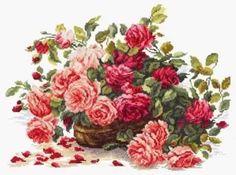 вышивка крестом больших размеров цветы: 19 тыс изображений найдено в Яндекс.Картинках