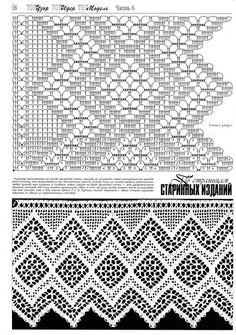 "Photo from album ""Дуплет on Yandex. Crochet Lace Edging, Crochet Borders, Crochet Diagram, Crochet Stitches Patterns, Crochet Art, Crochet Home, Thread Crochet, Irish Crochet, Crochet Designs"