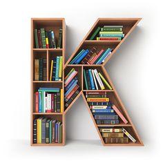 Letter K. Alphabet in the form of shelves with books isolated on white. Creative Bookshelves, Bookshelf Design, Home Decor Furniture, Diy Home Decor, Furniture Design, Door Design, House Design, Letter K, Form Letter