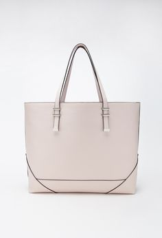 Oversized Faux Leather Tote | FOREVER21 - 1000056001 $27.90