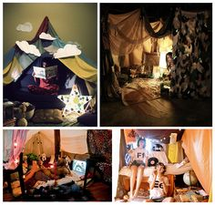 blanket forts.  pretty sure ours didn't look this nice.