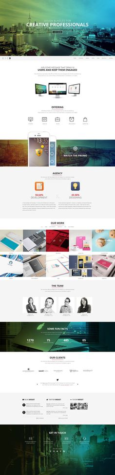 Kick - Nice break in design with full color vs plain with color elements. Nice layout. Contact us is neat.
